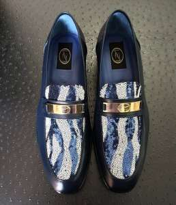 zanni-italian-leather-shoes-venezia-blue-fabric-paillettes-loafer