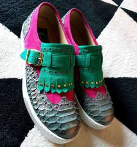 zanni-italian-leather-shoes-miami-sneakers-phyton-green-violet-emerald-comfortable-shoes-buckle